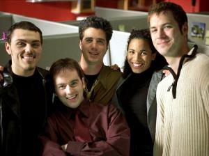 Group of students smiling at camera